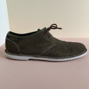 Clarks Green Suede Shoes 'Desert London' (UK 9)